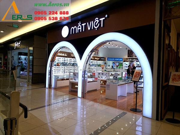 hình ảnh thiết kế thi công cửa hàng  mắt kính mắt việt- tân bình