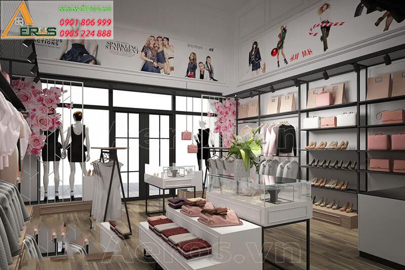 Thiết kế thi công shop quần áo Authentic store