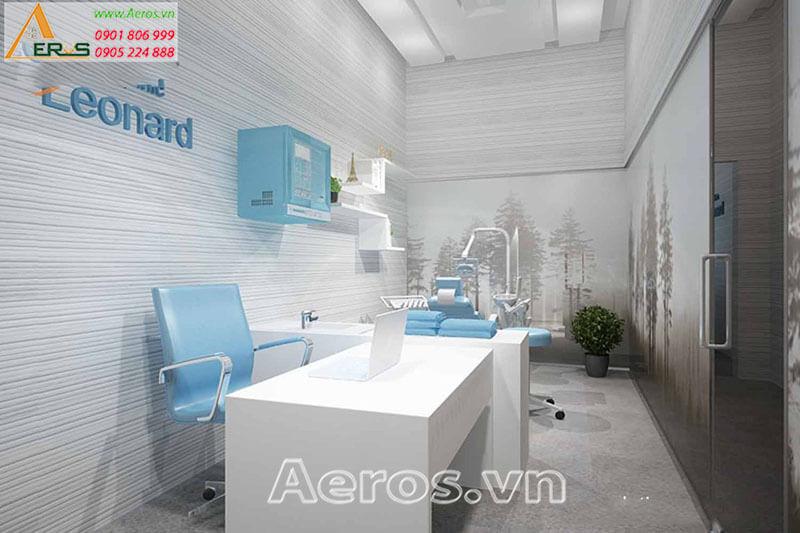 Hình ảnh thiết kế thi công phòng khám Leonard