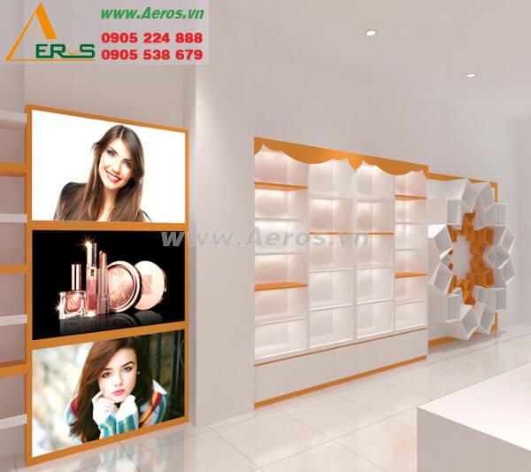 Hình ảnh thiết kế thi công shop Cosmetic