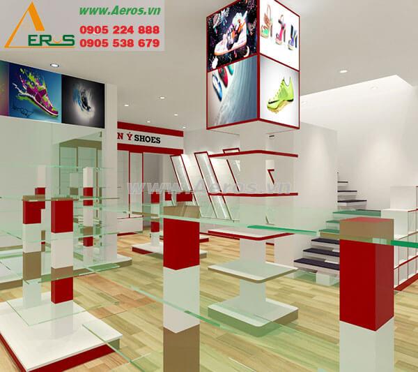Hình ảnh thiết kế thi công shop giày dép Trần Ý Shoes