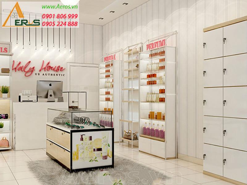 Thiết kế thi công shop mỹ phẩm Haly House