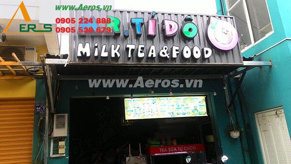 Hình ảnh thiết kế thi công quán trà sữa