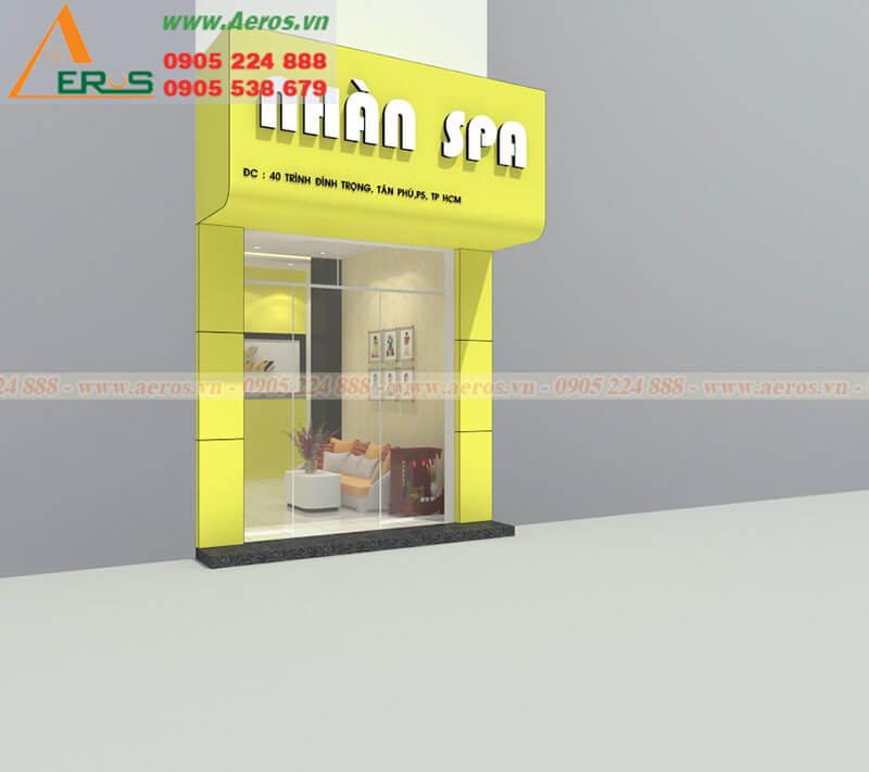 Hình ảnh thiết kế thi công spa Nhàn Spa