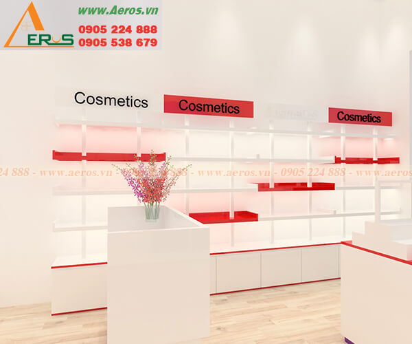 Hình ảnh khảo sát thiết kế cửa hàng mỹ phẩm