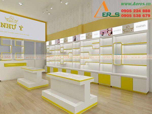 Hình ảnh thiết kế thi công cửa hàng mỹ phẩm Như ý