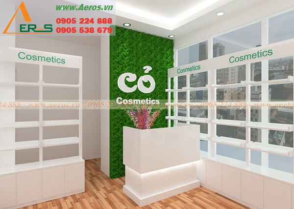 Hình ảnh khảo sát và thiết kế Cỏ Cosmetics