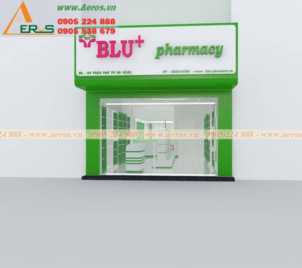 Thiết kế thi công nhà thuốc Dapharco Blu+