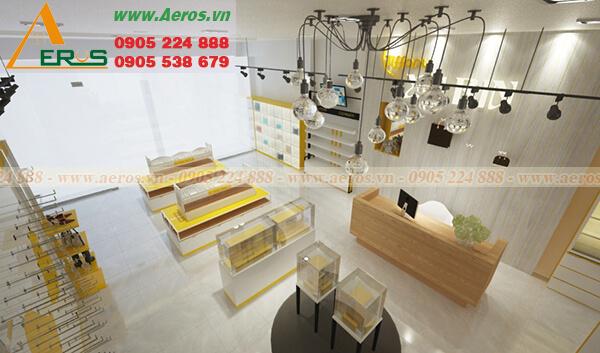 Hình ảnh thiết kế thi công shop mỹ phẩm Xubin
