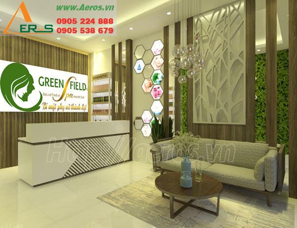 Hình ảnh thiết kế thi công spa Green Field