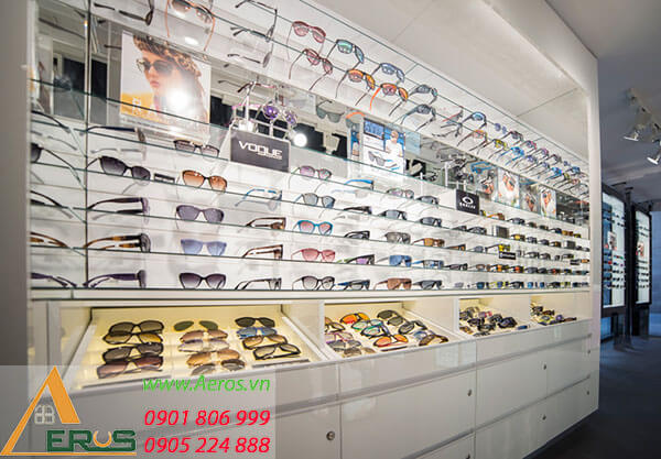 thiết kế shop mắt kính