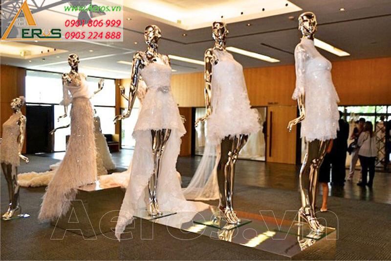 Hình ảnh thiết kế thi công showroom váy cưới Lovellabridal