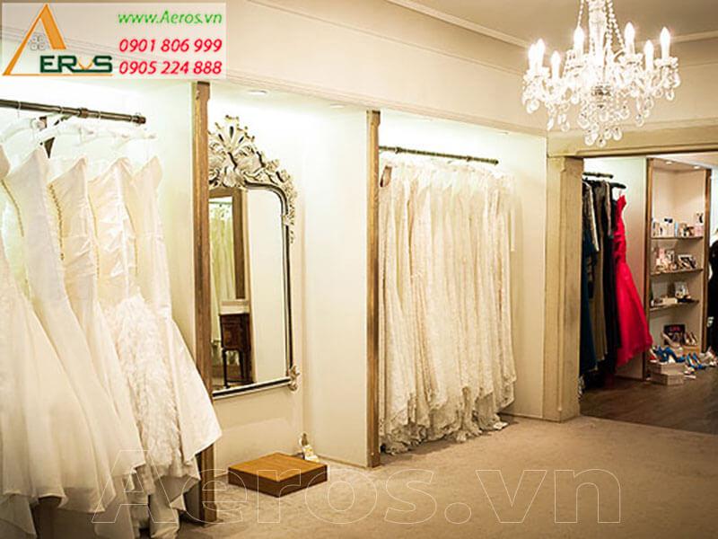 Hình ảnh thiết kế thi công showroom váy cưới Hương Thủy