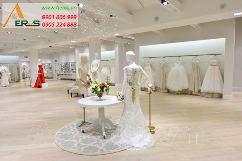 Hình ảnh thiết kế thi công cửa hàng váy cưới