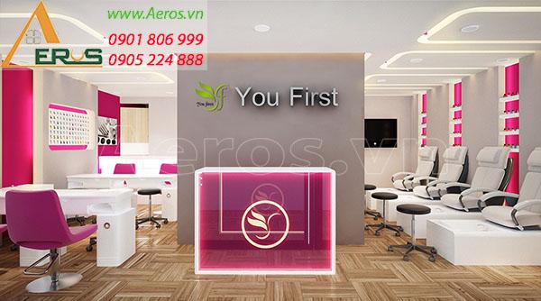 Thiết kế thi công nội thất spa You First tại quận 5, TP.HCM