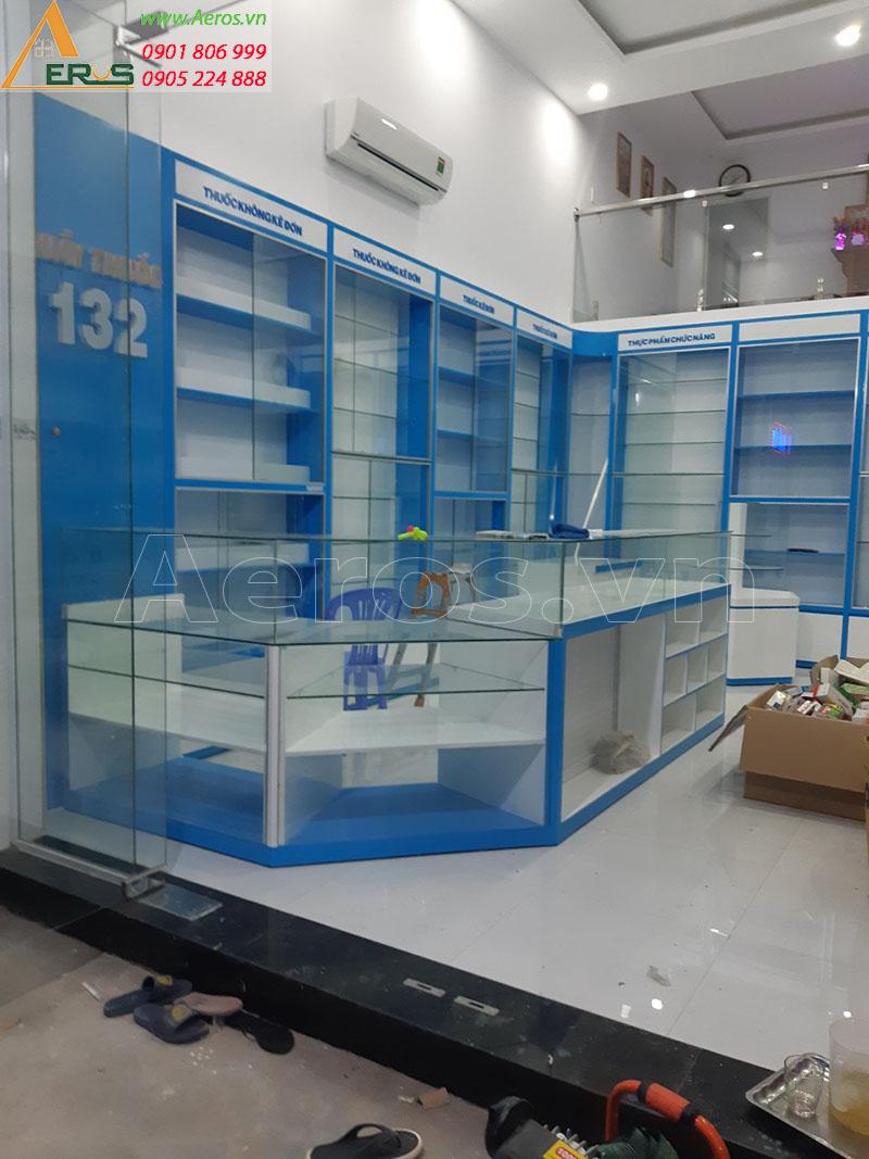 Hình ảnh thi công nhà thuốc tây GPP số 132 tại Tân uyên, Bình Dương