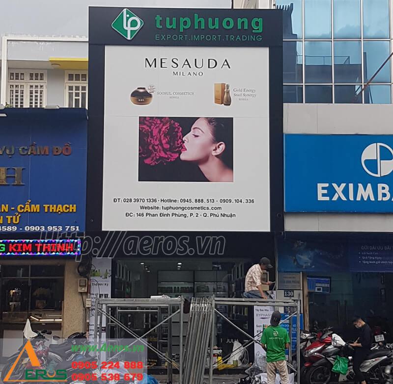 Hình ảnh thiết kế và thi công shop mỹ phẩm Tuphuong