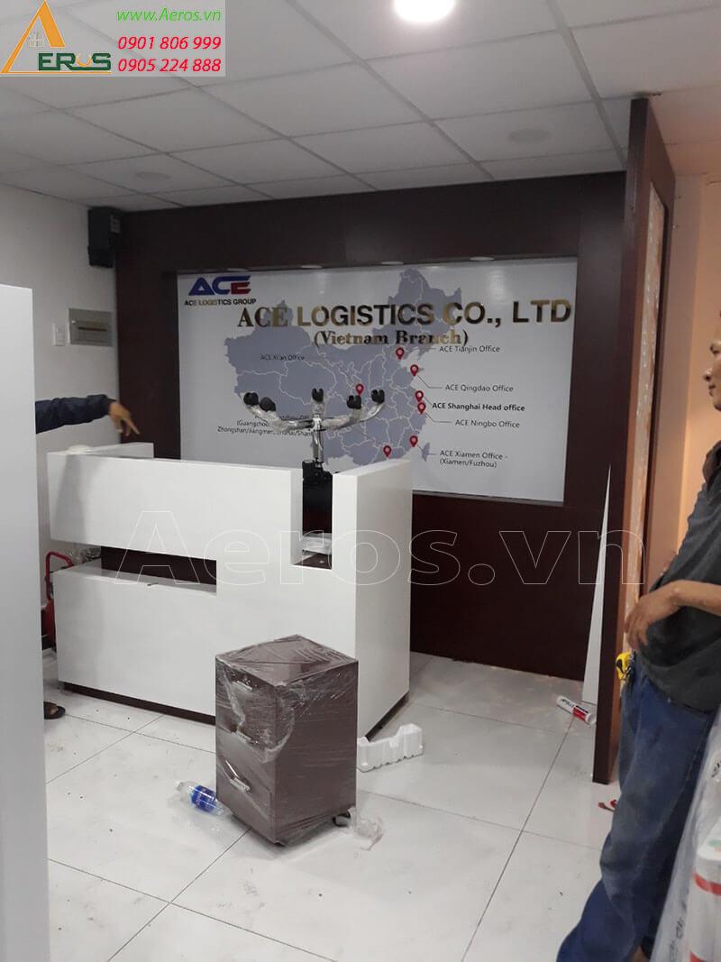 Hình ảnh thi công nội thất văn phòng công ty Ace logistic