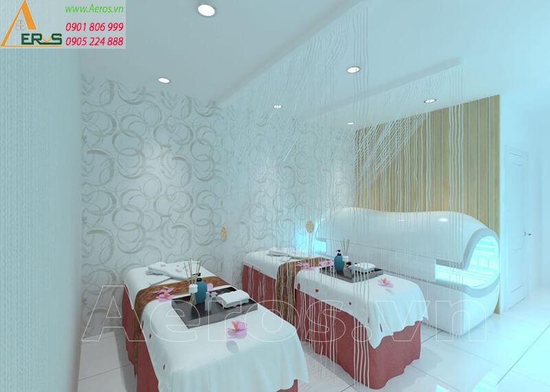 Hình ảnh thiết kế thi công spa chị Nhung