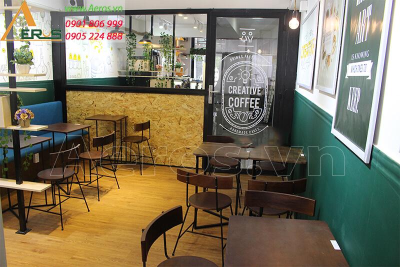 Hình ảnh thiết kế thi công quán cafe
