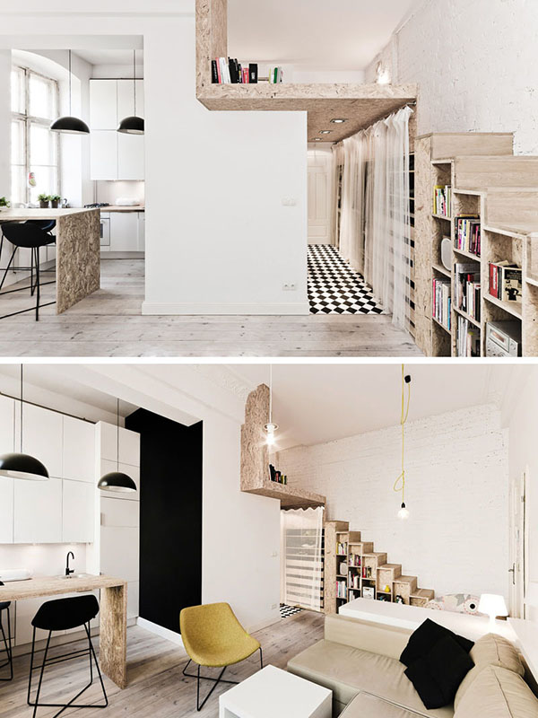 Thiết kế căn hộ chung mini 36m2