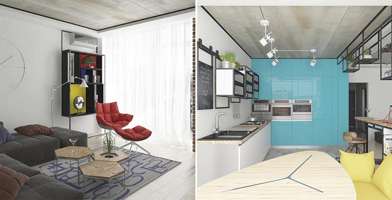 thiết kế nhà chung cư đẹp 70m2