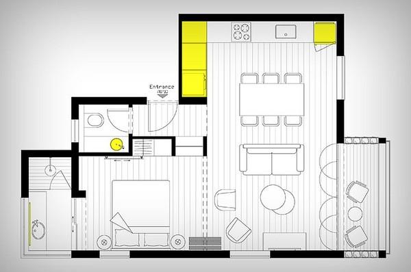 Thiết kế chung cư mini 46m2