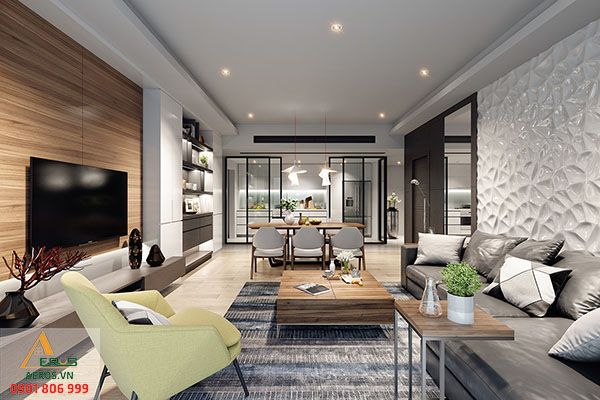Thiết kế thi công nội thất chung cư The Krista Apartment tại quận 2, TP.HCM