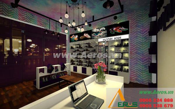 Hình ảnh thiết kế thi công shop giày dép Huỳnh TN