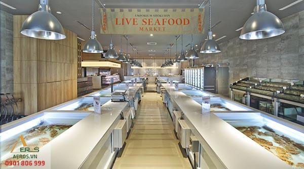 Top 10 mẫu thiết kế cửa hàng hải sản đẹp nhất 2019