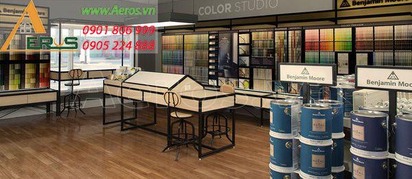 Top 10 mẫu thiết kế cửa hàng sơn đẹp nhất 2019