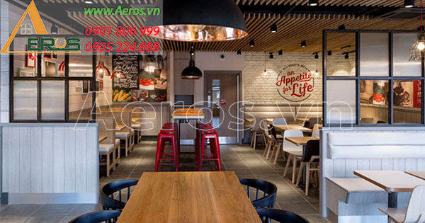 Top 10 mẫu thiết kế cửa hàng thức ăn nhanh đẹp nhất 2019