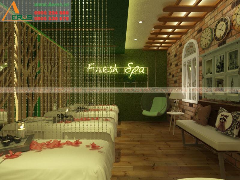 Hình ảnh thiết kế thi công spa Fresh