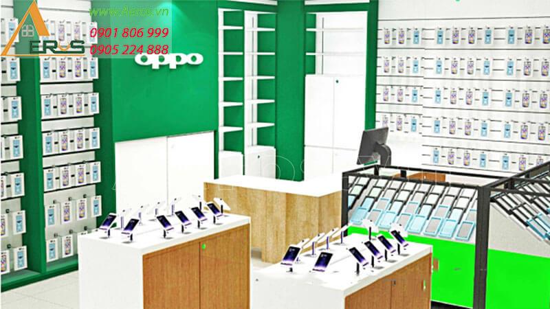 Hình ảnh thiết kế thi công cửa hàng điện thoại OPPO