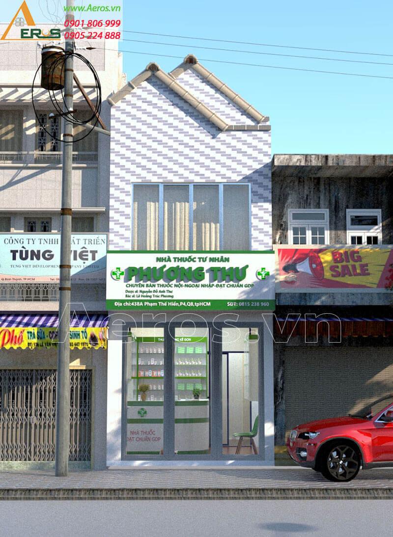 Hình ảnh thiết kế nhà thuốc tây GPP Phương Thư tại quận 8, TPHCM