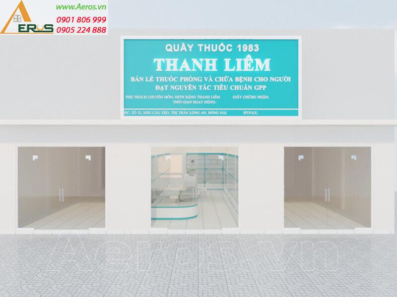 Hình ảnh thiết kế thi công nhà thuốc Thanh Liêm
