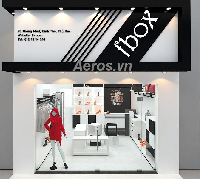 Thiết kế thi công shop thời trang Fbox - Thủ Đức