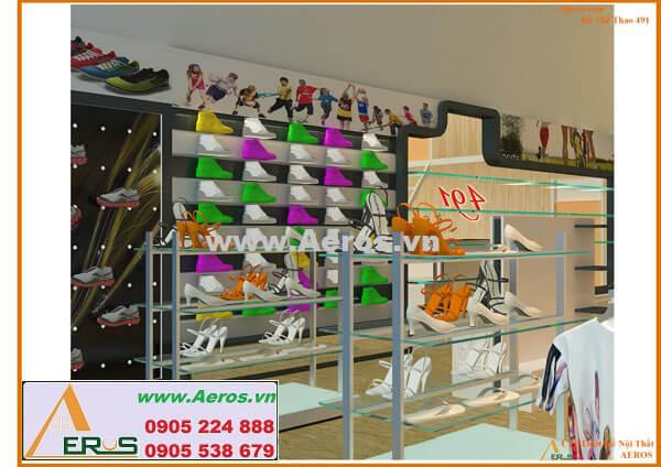 Hình ảnh thiết kế thi công shop giày dép 491