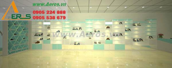 Hình ảnh thiết kế thi công shop giày dép HuyTN