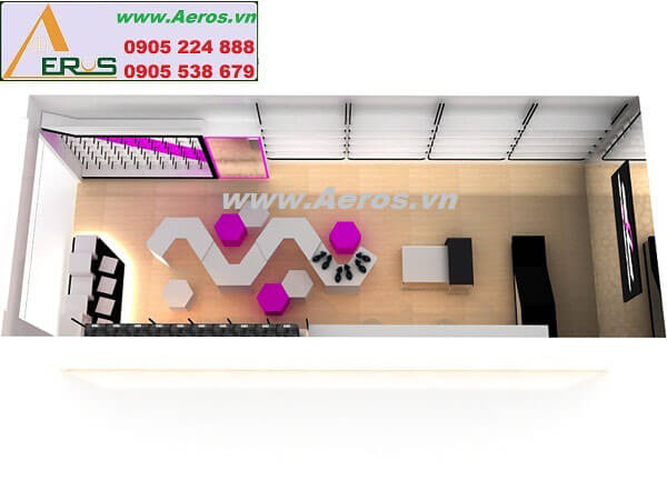 Hình ảnh thiết kế thi công shop giày dép EVA SHOES