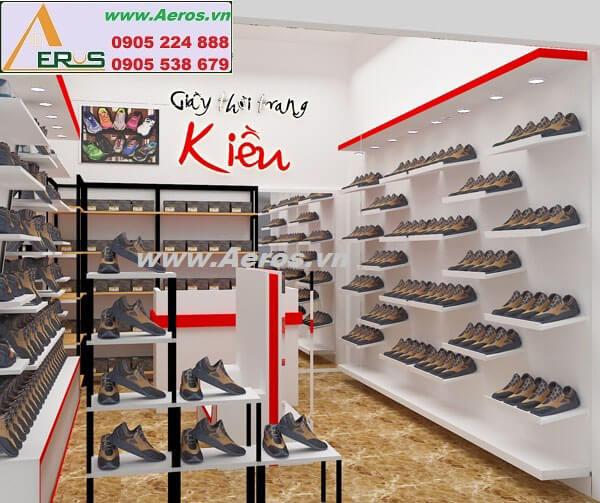 Hình ảnh thiết kế thi công shop giày dép Kiều
