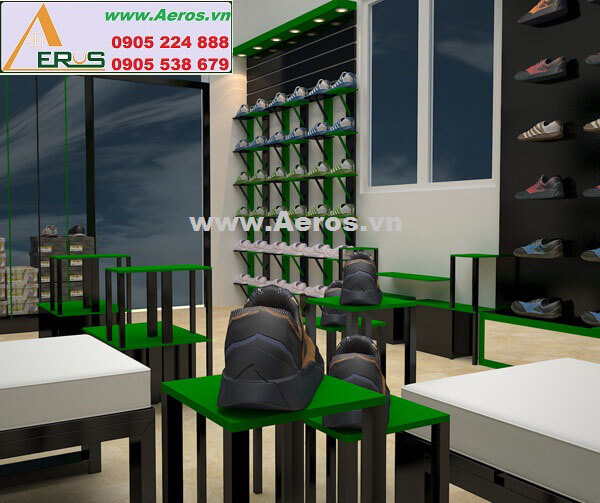 Hình ảnh thiết kế thi công shop giày dép Tâm Trí
