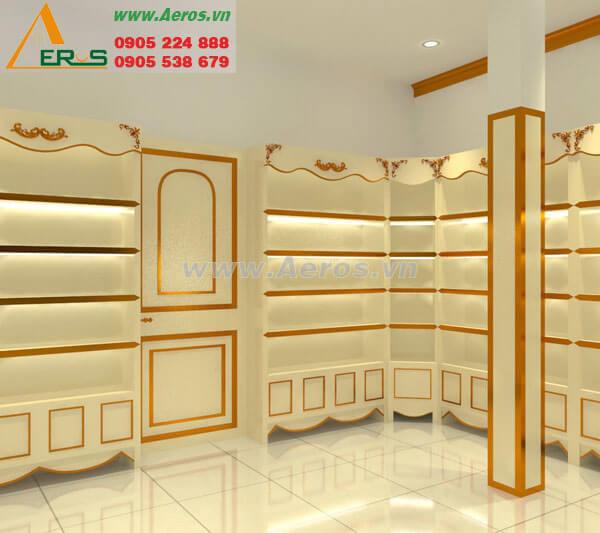 Hình ảnh thiết kế thi công mỹ phẩm Quỳnh Bông