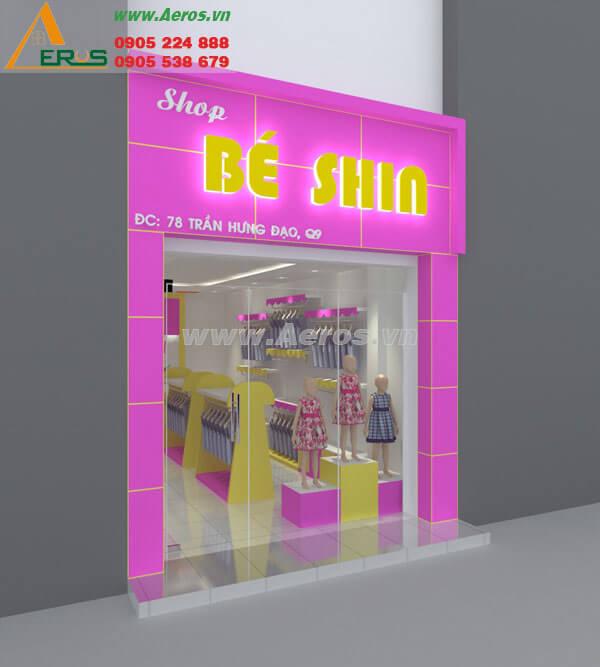 Hình ảnh thiết kế thi công thời trang Bé Shin