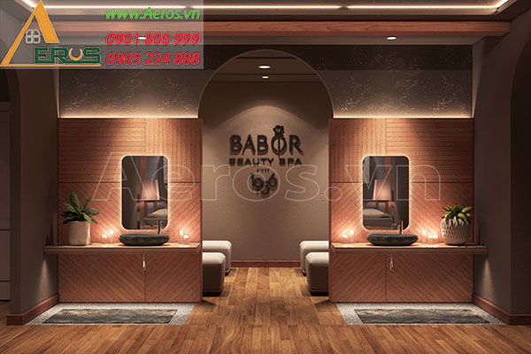Thiết kế thi công spa Babor chị Ngân tại Tân Phú, TP.HCM