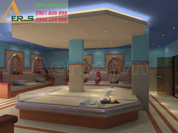 Thiết kế nội thất spa Sunrise tại quận 8, TP.HCM