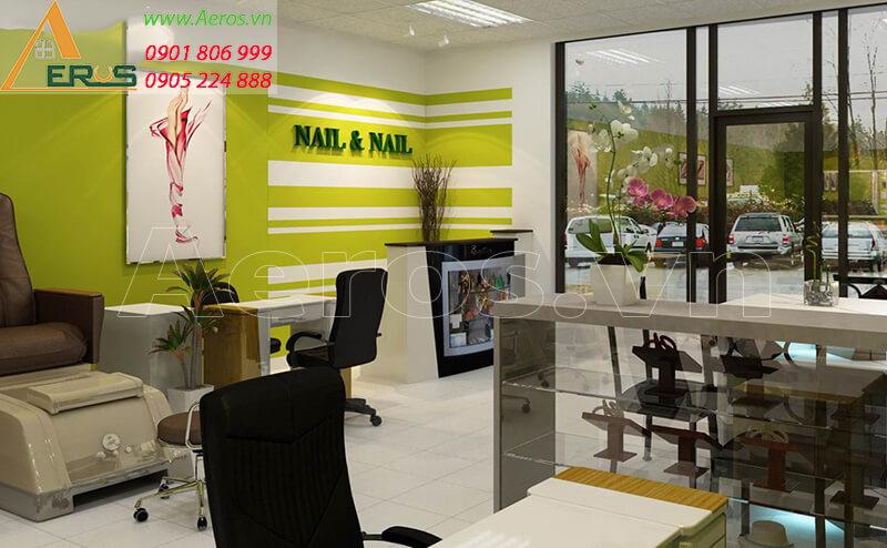 Hình ảnh thiết kế thi công tiệm Nail & Nail