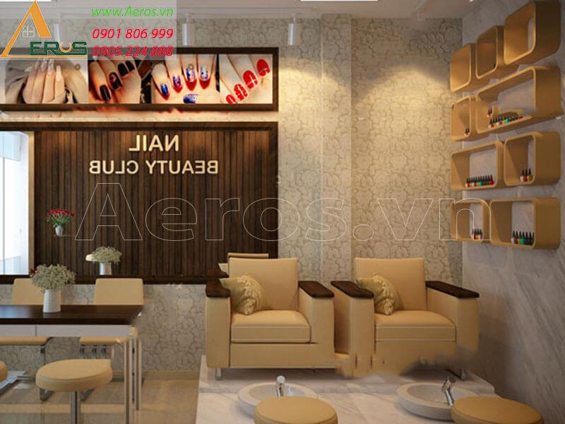 Hình ảnh thiết kế thi công tiệm nail Beauty Club