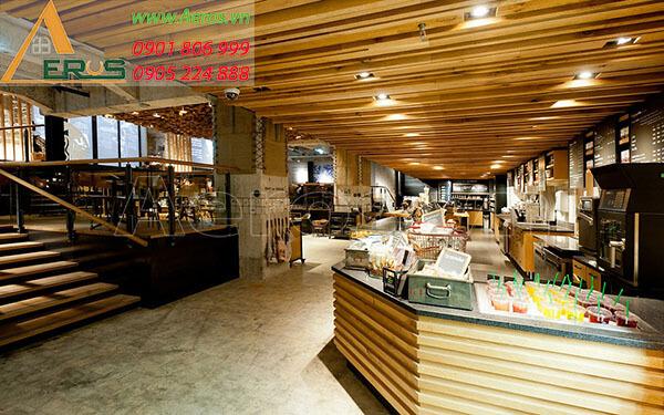 Thiết kế nội thất quán coffee Starbucks tại quận 1, TP.HCM