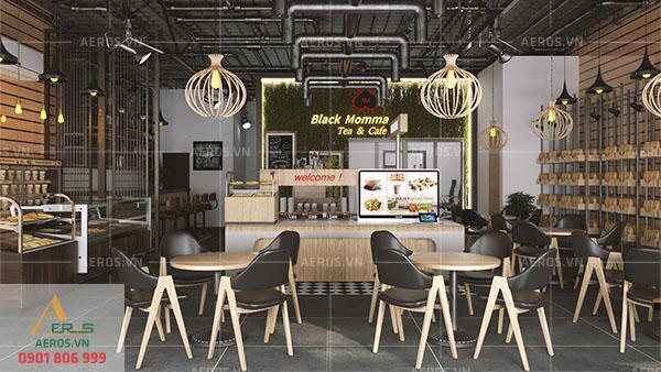 Thiết kế nội thất quán coffee Black Momma tại quận Tân Bình, TP.HCM